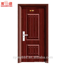 metal front door main design steel exterior door metal galvanized sheet powder coated with lock & handle