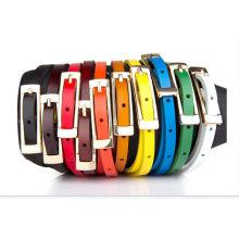 Chaude femme bonne boucle de ceinture slender leatherl belt of hangzhou trading company