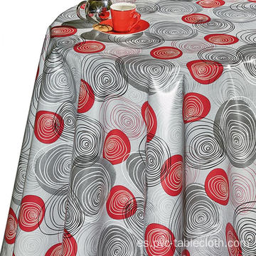 Vinyl Pvc Table Cloth Dining Wipe Clean