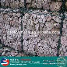 2014 China Hot Sale galvanizado ou pvc revestido gabion malha