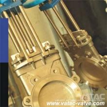 Acero fundido y acero inoxidable Wcb / Ss316 / EPDM cuchillo de la válvula de compuerta Fabricante