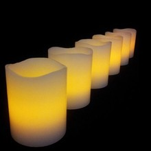 Flameless LED velas de Pilar con borde recto