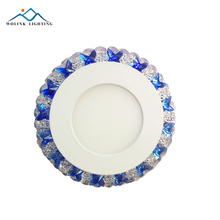 Modern Decoration high quality crystal model led two color panel 3+3W