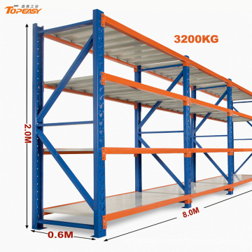 Powder coated heavy duty boltless warehouse shelving 600mm