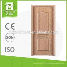 Conceptions internes de portes de chambre à coucher en MDF de la manufacture de Chine