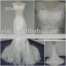 2011 latest elegant drop shipping freight freelace style 2011 mermaid wedding dress JJ2362
