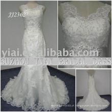 2011 mais recente gota elegante frete freelace estilo 2011 vestido de noiva sereia JJ2362