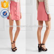 Office Lady Buttons-Embellished A-LIne Mini Summer Skirt Manufacture Venta al por mayor Moda Mujer Ropa (TA0040S)