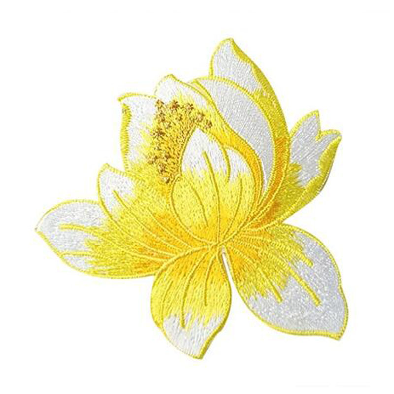 Cute Lotus Clothing Embroidery Patches