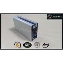 Perfil de alumínio para porta deslizante com electroforese cor branca