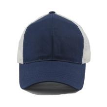 Promoción barata en blanco gorra de camionero al por mayor