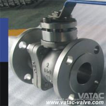 Válvula de bola flotante de acero inoxidable fundido CF8, CF8m, CF3, CF3m