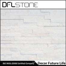 barato revestimiento de piedra natural blanco para pared exterior