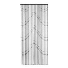 cortina de hilo con abalorios