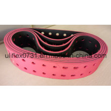 100p2+6mm+Red Rubber Perforated Conveyor Belt