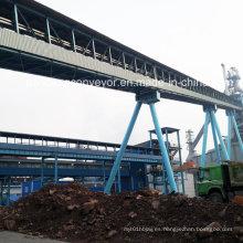 Máquina transportadora de cinta transportadora sólida a granel / planta transportadora de acero