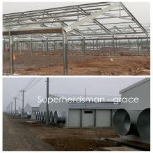 Heißes Gavalnized-Stahlstruktur-Hühnerhaus mit landwirtschaftlichen Maschinen