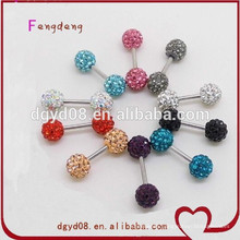 fashion jewelry 2015 wholesale stainless steel crystal earrings women