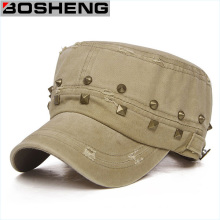 Fashionable Tattered Unisex Flexfit Army Military Rivet Cadet Cap