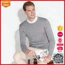 Suéter de cachemira gris de jersey de cachemira nuevo suéter de cachemira suéter de 100%