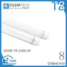 24W hoch effizienten T8 LED Röhre Lampe mit CE/RoHS/FCC Energieeinsparung