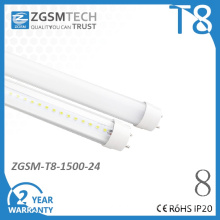 24W High Efficient T8 LED Tube Light Lamp with CE/RoHS/FCC Energy Saving
