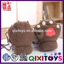 Плюшевые теплая зима хлопок животное шляпа шарф перчатки набор хлопка