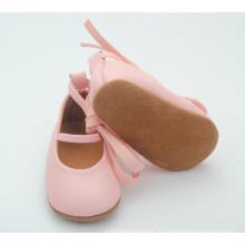 Горячая продавая мягкая единственная детская кожаная детская обувь для девочек