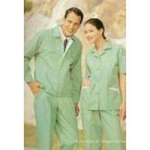 """Tela uniforme do Workwear TC da tintura da cuba 65/35 14x14 80x52 240-245gsm 57/58 """"3 / 1Twill"""