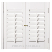Fauxwood PVC Sicherheit Fensterläden