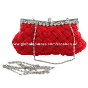 Fashionable Evening Bags, Made of Silk, Used for Parties and Wedding