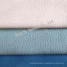 Rideau Suede polyester velours gaufré et canapé tissu