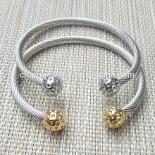 Produits les plus vendus Bracelet en acier inoxydable à la mode Twisted GSL002