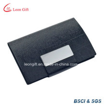 Wholesale Metal PU Leather Business Name Card Holder Promotion