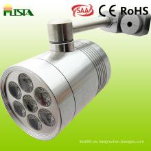 Color de alta potencia de 7 vatios cambiantes luces de la pista de LED