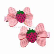 Hair Ornaments with Strawberries Bows, Customized Designs are Accepted