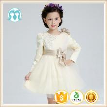 Kinder Kleidung Baby Mädchen Partykleid Brautkleid Perlen Blumenkleid