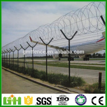 GM triangle bending welded airport fence with Y post, pvc coated airport fence