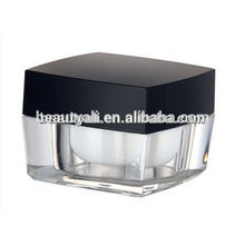 5ml 10ml Square Plastic Cream Cosmetics Jar Acrylic 5g 10g Cosmetic Jar