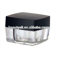 5ml 10ml Praça plástico creme cosméticos jar acrílico 5g 10g cosméticos Jar
