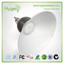Material de alumínio 180w iluminação highbay conduzida industrial e garantia de 3 anos conduziu o alojamento highbay
