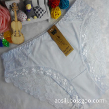 OEM wholesale new style white sexy comfortable lace cotton fancy underwear 807