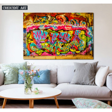 Graffiti Street Wall Art Abstract Canvas print