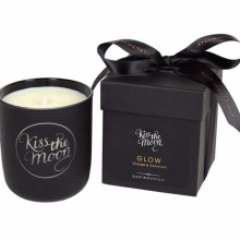 customized gift box black glass soy wax candles