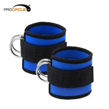 Leg Entrenamiento ajustable D Ring Tobillera para gimnasio