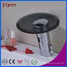 Fyeer черный носик водопад стекла Автоматический faucet датчика (QH0109B)