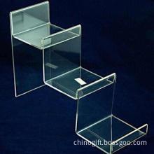 Acrylic wallet rack, measures 7x25x25cm