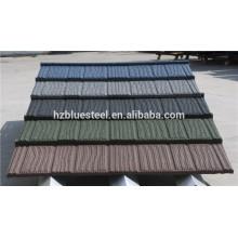 Carrelage en pierre recouvert de toit pour la maison, de bonne qualité Revêtement en pierre revêtue d'acier pour la vente