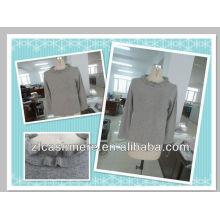 100%cashmere women's Intarsia hooded cardigan