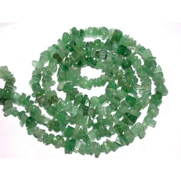 Green Aventurine Chip beads 32""